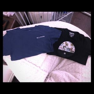 2 Billabong t-shirts Large